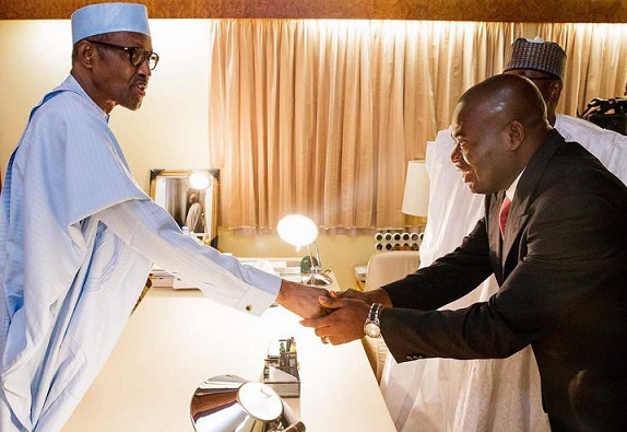 PMB Receives Hon. Tony Nwoye, the Anambra State APC candidate