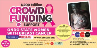 Unity Bank Partners with Ondo State to Create Cancer Awareness