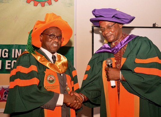 NNPC GMD Baru conferred with Fellowship of Nigerian Institution of Mechanical Engineers