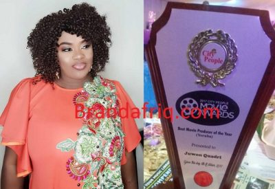 UK-based actress, Juwon Quadri bags Best Producer of the Year at City People Movie Awards