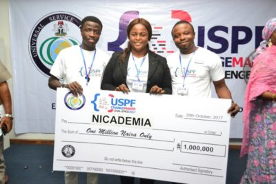 NICADEMIA Wins the USPF 2017 CHANGEMAKER CHALLENGE