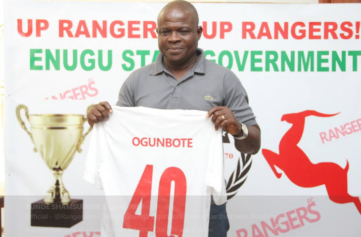 Gbenga Ogunbote unveiled as next Enugu Rangers manager