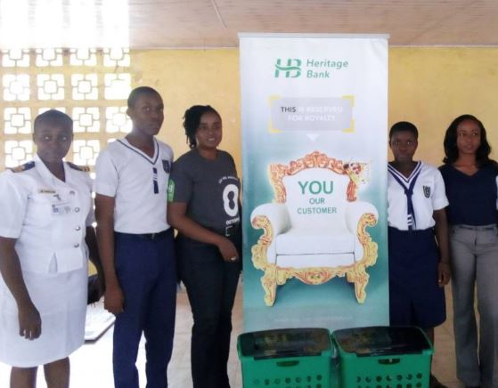 Heritage Bank, World earth Day, Navy Town Secondary School