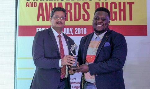Oye Akindeinde, General Manager, Operations - Mobile Apps for TECNO Mobile Limited, and co-founder of 360nobs, Digital Entertainment Innovator of the Year at the 2018, Digital Entertainment Innovator, Marketing Edge Brand and Advertising Excellence Award, #Marketingedge's 2018 awards