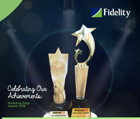 """Fidelity Bank, Fidelity Bank plc, banking, Nigeria, 2018 Brands & Advertising Excellence Awards, MD of the bank, Nnamdi Okonkwo, """"Most Outstanding TV Commercial"""", """"Banker the Year"""""""