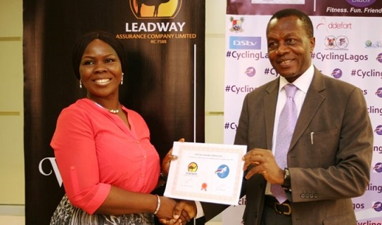 Leadway Assurance, Cycling event, Lagos State Cycling Association, Addefort Limited, Head Corporate Communications, Leadway Assurance Company, Mrs. Olubunmi Adeleye, WorldStage Group