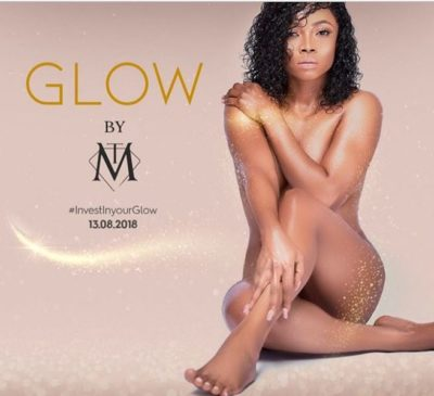 On-air-personality, Toke Makinwa, Skin product, Nigeria, beauty, nude, 'Glow By TM,'