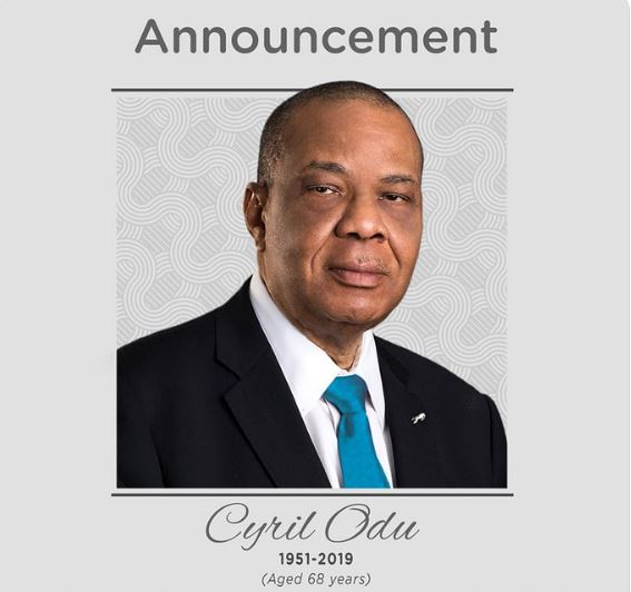 Union Bank Loses its Chairman, Cyril Odu After Brief Illness