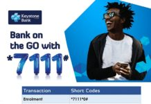 Bank on the go with Keystone Bank *7111#