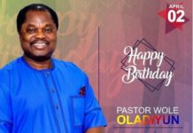 CLAM G.O, Pastor Wole Oladiyun Turns a Year Older