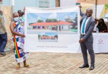 NANA AFRIFA FOUNDATION CUTS SOD FOR A SIX-UNIT CLASSROOM BLOCK AT ST. ANDREW PRIMARY SCHOOL IN JUASO