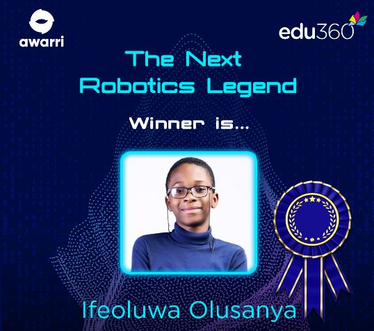 11-Year-Old Emerges Winner of the Next Robotics Legend Competition