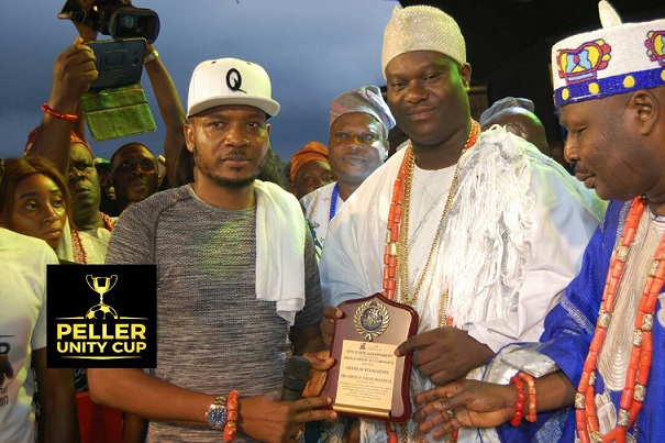 Massive turn out has been recorded at the Grand Finale of the just concluded Peller Unity Cup 2017 as it witnessed the presence of the paramount rulers of the Yoruba Race- Alaafin of Oyo, Oba Lamidi Adeyemi III; and Ooni of Ife, Oba Adeyeye Ogunwusi.