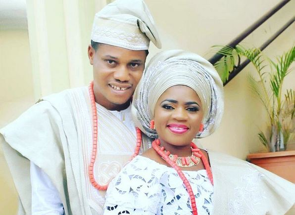 Easy going Nollywood set designer cum producer, Kazeem Bello and his pretty wife, are currently having their wedding anniversary celebration as their marriage turns a year older.