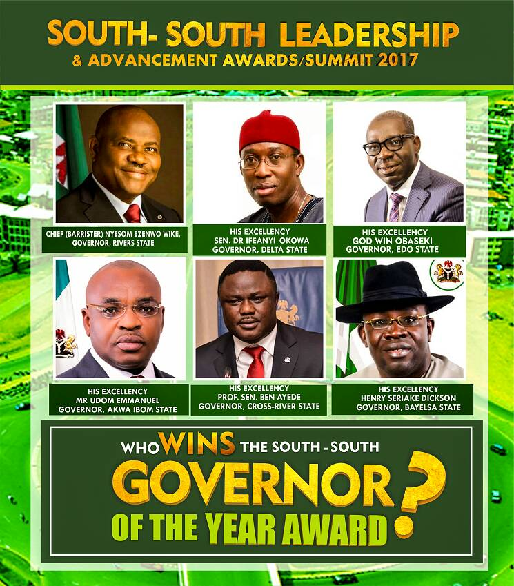 Gov. Okowa, Ayade, others for South–South Leadership Advancement Awards
