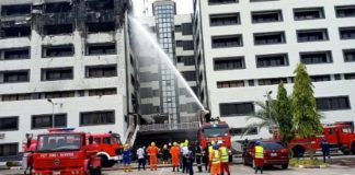 Breaking News: Fire Guts Accountant General's Office in Abuja