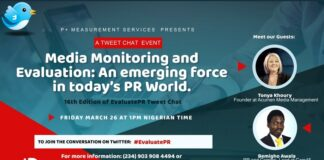 Measurement and Evaluation Agency Addresses Industry Issues at the 16th Edition of EvaluatePR Tweetchat